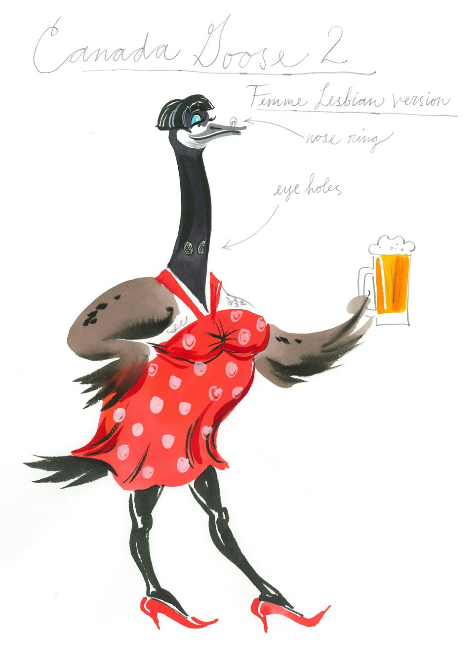 Canada Goose Pictures Cartoons